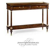 French style Mahogany console with brass gallery #hpmkt #jcfurniture…