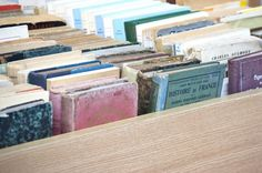 Vintage books.  Love the worn colors