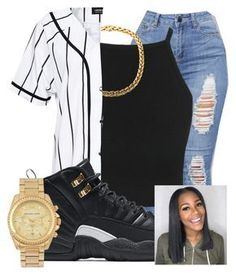 """""""Untitled #219"""" by brooklynnmckenna ❤ liked on Polyvore featuring A Question Of, NIKE and Michael Kors"""