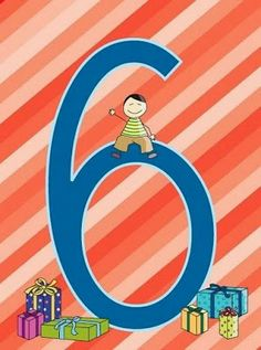 Fichas número 6. Numbers Preschool, Math Numbers, Letters And Numbers, Art Birthday, Happy Birthday, Free Frames, Counting Activities, Teaching Aids, Stick Figures