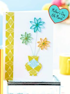 Card Making Papercraft Projects- Browse free paper crafting projects split into their individual categories Holographic Paper, Paper Quilling Designs, Quilling Ideas, Hunkydory Crafts, Crate Paper, Flower Center, Ink Pads, Pattern Paper, Craft Projects