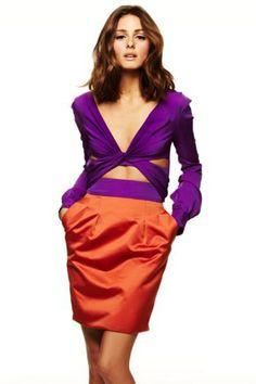 a73f713864c olivia palermo Orange And Purple