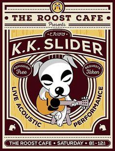 Buy 'K.K. Slider Gig Poster' by owlhaus as a T-Shirt, Classic T-Shirt, Tri-blend T-Shirt, Lightweight Hoodie, Women's Fitted Scoop T-Shirt, Women's Fitted V-Neck T-Shirt, Women's Relaxed Fit T-Shirt, Graphic T-Shirt, Sticker, Poster, Art P...