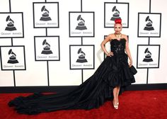 Putting the red into red carpet: Flame-haired ex-Pussycat Doll Kaya Jones, made sure she stood out with her ruffled black gown - and the yards of fabric that trailed behind it Strapless Dress Formal, Formal Dresses, Popular People, Charli Xcx, Red Carpet Fashion, Rihanna, Madonna, Dress To Impress, Love Fashion