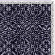Hand Weaving Draft: Threading Draft from Divisional Profile, Tieup: Crackle Design Project, Draft #13476, Threading: Weber Kunst und Bild Bu...
