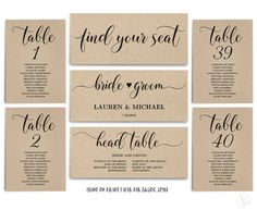 Navy seating chart template wedding seating chart cards editable rustic wedding seating chart template header signs and table signs 1 40 printable wedding table chart instant download sc008 junglespirit Choice Image