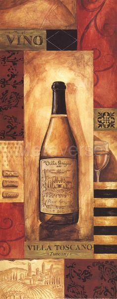 Villa Toscano Panel - petite Fine-Art Print by Gregory Gorham at CoffeeDecor.com
