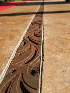 Minnione natural iron trench grate by Iron Age Designs. Visit the slowottawa.ca boards >> http://www.pinterest.com/slowottawa/