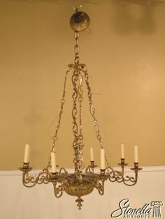 38207e Virginia Metalcrafters Colonial Williamsburg Governors Office Chandelier 2395 00