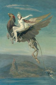 "John Duncan (1866-1945), ""Heptu bidding farewell to the city of obb"""