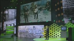 Part 1 of the full Press Conference of Microsoft at E3, June 1. 2009 - Rock Band: The Beatles Trailer - The game is presented live on stage