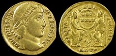 Ancient Rome. Constantius II, 337 - 361 AD. Gold solidus, Antioch mint. Struck 355-361 AD