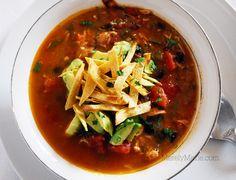 Chicken Tortilla Soup. Easy & full of flavor