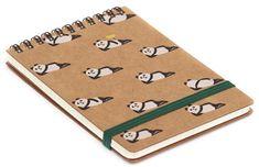 funny brown panda animal ring binder notebook 2