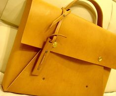 Anyone can easily create this Simple Leather Briefcase.