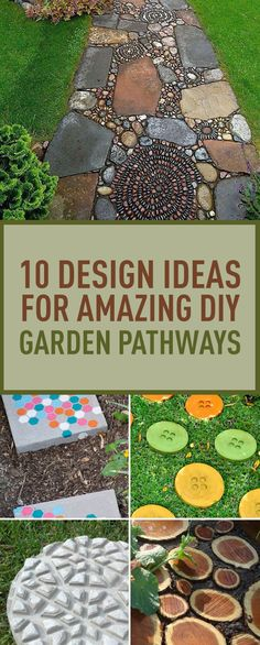 Garden paths have important practical functions; they define the different zones of your garden and help you get from one point to another in the easiest way possible. Pathways don't have to be just practical; with a little effort they can create the desired mood or set the atmosphere of your garden. While designing your garden you'll need to make a number of important decisions regarding the shape, dimensions and materials of the pathways. To help you with this, we brought to you 10 easy creati Large Backyard Landscaping, Landscaping With Rocks, Landscaping Tips, Diy Garden, Garden Paths, Garden Ideas, Moon Garden, Patio Ideas, Outdoor Ideas