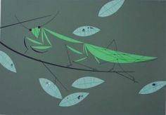Praying Mantis II (with Red Bug)