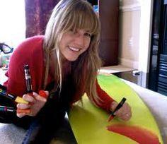 mickey june surfboard art -