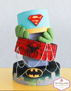 Super hero cake!! (I better start practicing my artistic molding skills so I can make this for my nephews bday)