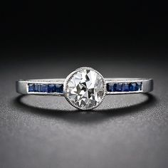 Vintage Art Deco Sapphire and Diamond Ring this is exactly what i want...