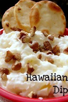 Hawaiian dip: Cream cheese, coconut & pineapple  ~  sounds like something you'd like!