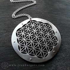 Triple Layer Sterling Silver Flower of Life Pendant