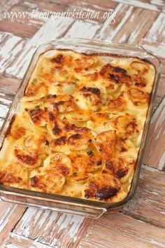 Three Cheese Au Gratin Potatoes | The Organic Kitchen Blog and Tutorials