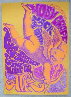 Poster for Big Brother & The Holding Co. (Janis Joplin's band), 1967