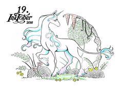 19. Inktober 2016 – Last Unicorn Einhorn, Das letzte Einhorn, Illustration