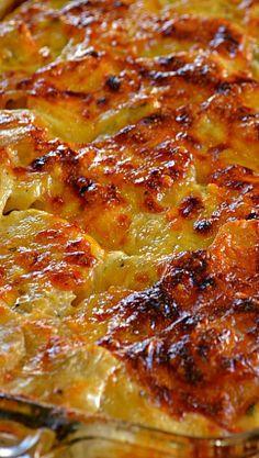 Cheesy Artichoke Potato Casserole