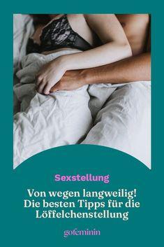 Bei der Löffelchenstellung denken sicherlich viele an leicht schnarchigen Blümchensex. Aber das ist ein Fehler. Denn die Sexstellung mit dem Plus an Körperkontakt ist ein echter Knüller. Hier ein paar Tipps und Gründe, warum ihr diese Stellung öfters nutzen solltet für euer Liebesleben. #Löffelchenstellung #Sex #Liebe #Bezieung #Lust Holding Hands, Let It Be, Love Life, Passion, Couple
