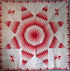 1880s Bethlehem star pattern quilt, 76 by 79 inches.