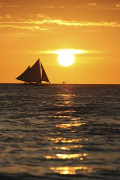 Sunset watching at  Boracay, Philippines