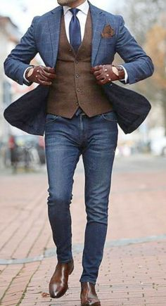 The Best Street Style Inspiration & More Details That Make the Difference - Mens Fashion - Winter Mode Stylish Men, Men Casual, Casual Dressy, Hijab Casual, Casual Suit, Casual Styles, Casual Attire, Groom Attire, Casual Jeans