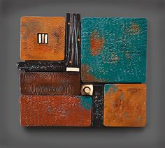 Modern Oblong Square by Rhonda Cearlock. American Made. See the designer's work at the 2016 American Made Show, Washington DC. January 15-17, 2016. americanmadeshow.com #americanmade, #americanmadeshow, #ceramic, #pottery