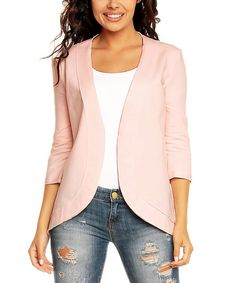 Look at this Nommo Pink Open Jacket on #zulily today!