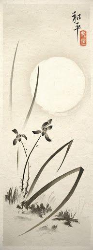 Iris And Wild Grass Asian Art Print. $14.75, via Etsy.?