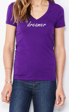 Gifts, gifts for her, womens fashion, fashion, graphic tshirt, tees, eco friendly, womens clothing, dreams , dreamer, dream catcher,  Christmas, purple, v neck, Christmas gifts, etsy, causal, Cute, shirt, shirts, sayings, motivation, Workout shirt, motivational shirt, positive vibe, positive quote, Dreamer, inspirational t shirt, exercise tank, activewear, birthday gift #clothing #women #tshirt #typographyshirt #exerciseshirt #exerciseclothing #funnyexerciseshirt #workoutclothes #tankworkout