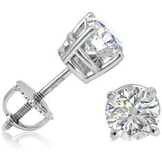 If you ever get these MUST be screw backs so they don't fall out please. Round diamond studs with screw backs ♥