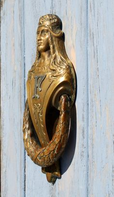 Antique Renaissance Woman Door Knocker Neoclassical by KnockPlease