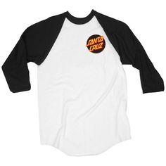 Santa Cruz Skateboards: Tees & Tops: Other Dot Raglan 3/4 Sleeve T Shirt
