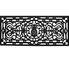 Extend a warm greeting to your guests with this lovely eco-friendly doormat, featuring a scrollwork motif.