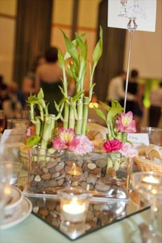 Bamboo and Cherry Blossom Centerpiece