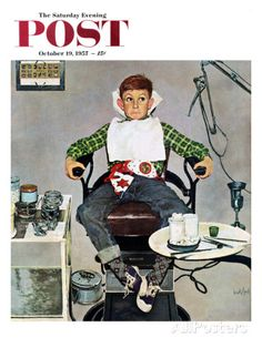 "http://www.allposters.co.uk/-sp/In-the-Dentist-s-Chair-Saturday-Evening-Post-Cover-October-19-1957-Posters_i8594041_.htm ""In the Dentist's Chair"" Saturday Evening Post Cover, October 19, 1957 By: Kurt Ard"