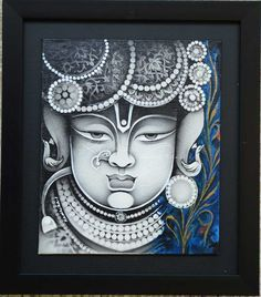 Find out the finest collections of Supreme Acrylic on Canvas Arts from Radhika Seksaria, an Indian Painting Artist offering finest art work, digital print. Worli Painting, Kerala Mural Painting, Ganesha Painting, Pichwai Paintings, Indian Art Paintings, Unique Paintings, Madhubani Art, Madhubani Painting, Krishna Art