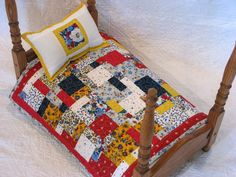 American Girl Doll Quilt Doll Blanket Doll by DollPatchworks, $36.00