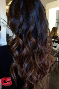 Are you looking for dark chocolate hair color for brunettes balayage? See our collection full of dark chocolate hair color for brunettes balayage and get inspired! Dark Ombre Hair, Hair Color Dark, Black To Brown Ombre Hair, Blonde Ombre, Dark Fall Hair Colors, Bayalage On Dark Hair, Hair Color Ideas For Dark Hair, Dark Brown Hair With Caramel Highlights, Dark Curly Hair