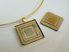 Intel CPU Recycled Computer Necklace by GMOTHERBORED on Etsy, $55.00