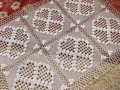 RUNNER Table Dresser Scarf Crocheted Lace by RenaissanceProfessor