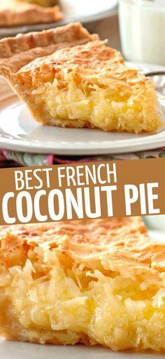 Coconut Desserts, Coconut Recipes, Easy Desserts, Baking Recipes, Delicious Desserts, Cake Recipes, Yummy Food, Recipe For Coconut Cake, Easy Pie Recipes